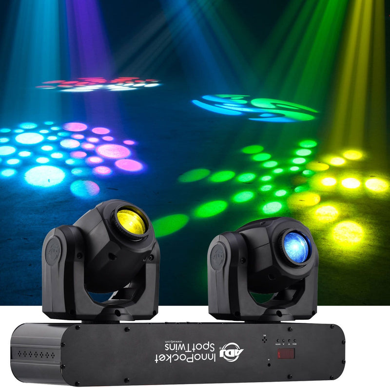 ADJ American DJ Inno Pocket Spot Twin Moving Head LED Light - PSSL ProSound and Stage Lighting