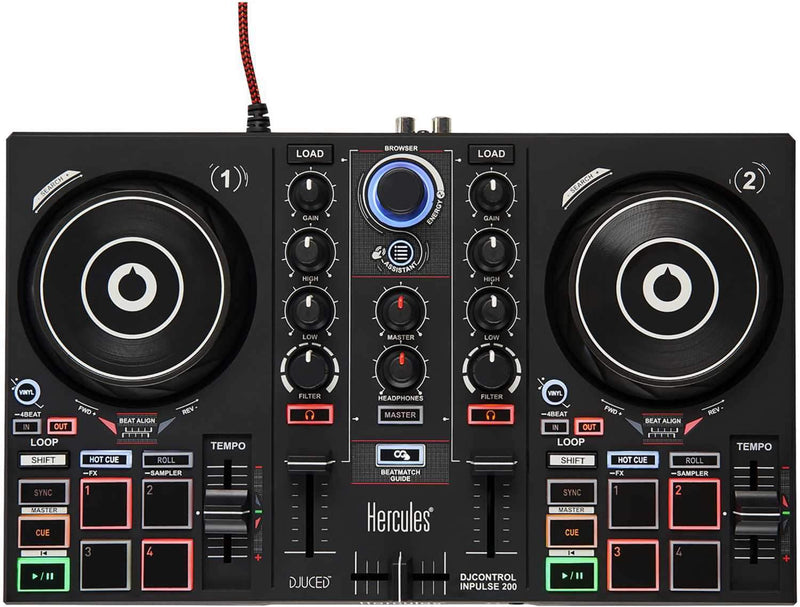 Hercules DJ Control Inpulse 200 Controller - PSSL ProSound and Stage Lighting
