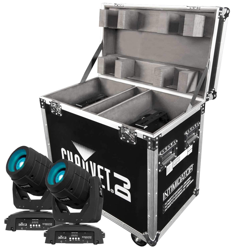 Chauvet Intimidator Spot LED 350X2 Lights & Case - PSSL ProSound and Stage Lighting