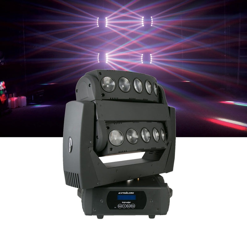 Epsilon Intruder RGBW LED Double Moving Head Beam Effect Light - PSSL ProSound and Stage Lighting