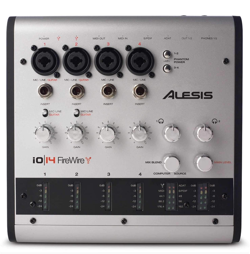 Alesis IO-14 14-Input 24/192K FW Audio Interface - PSSL ProSound and Stage Lighting