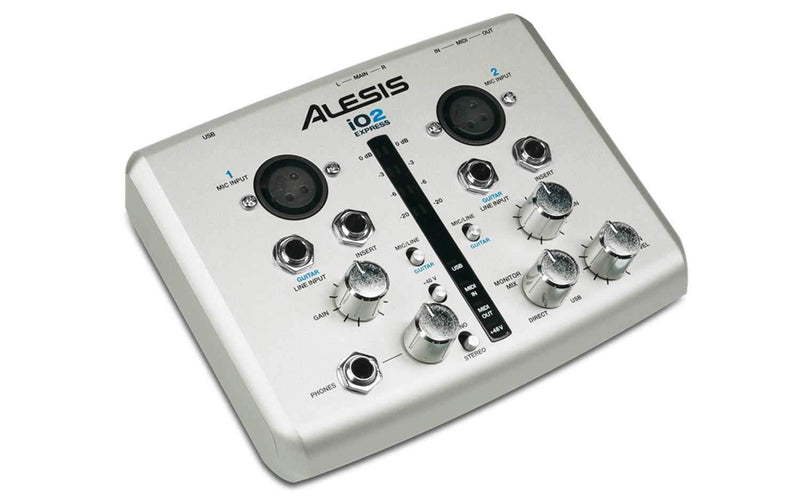 Alesis IO2-Express 24 Bit USB Recording Interface - PSSL ProSound and Stage Lighting