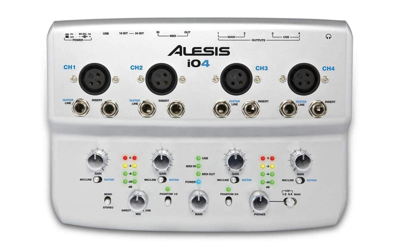 Alesis IO4 4 Ch USB Audio Interface with Cubase LE - PSSL ProSound and Stage Lighting