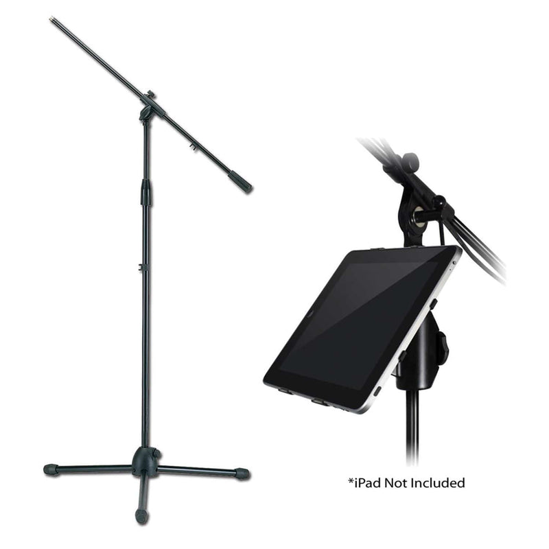 Pro iPad Stand Adapter Plus Boom Mic Stand Pack - PSSL ProSound and Stage Lighting
