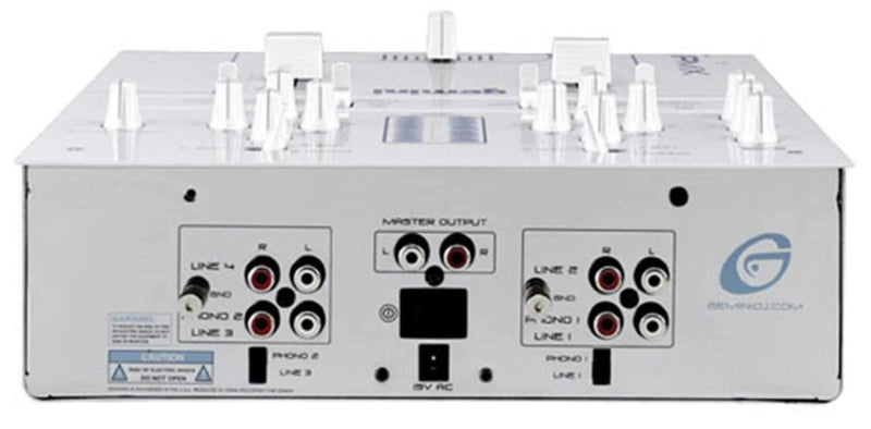 Gemini 2-CH DJ Mixer White/Chrome with Kill Switches - PSSL ProSound and Stage Lighting