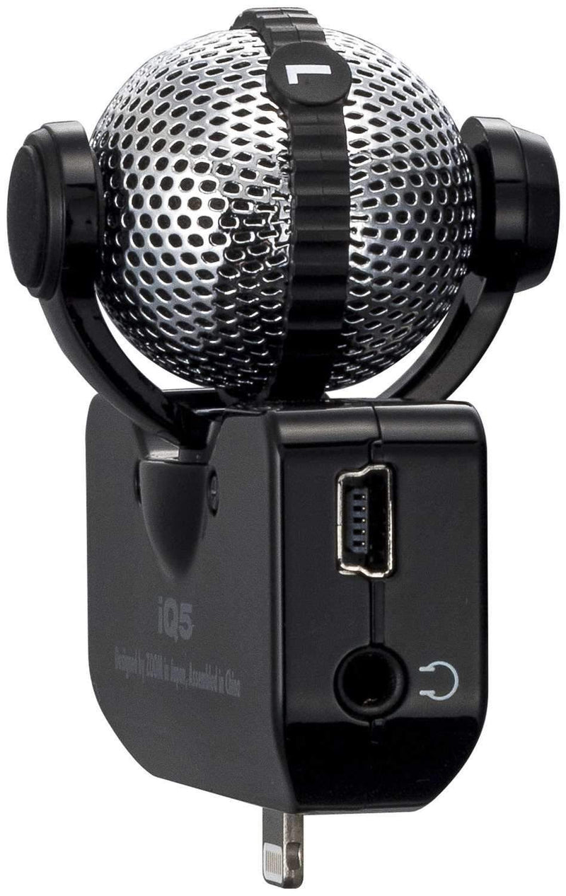Zoom iQ5 Lightning Stereo Microphone - PSSL ProSound and Stage Lighting