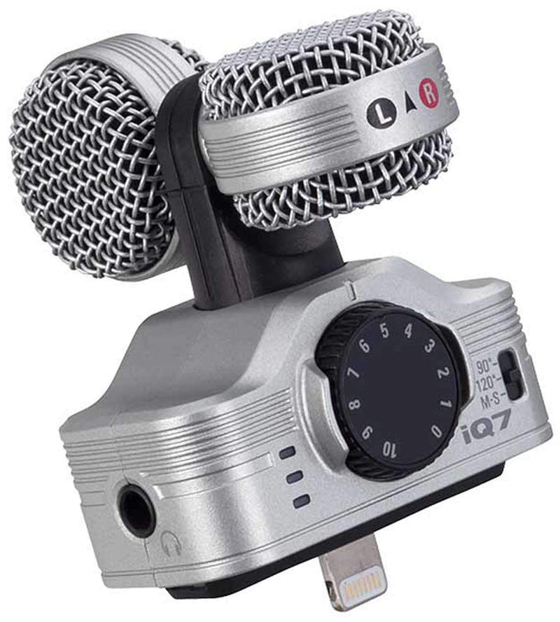 Zoom IQ7 MS Stereo Microphone for iPhone & iPad - PSSL ProSound and Stage Lighting