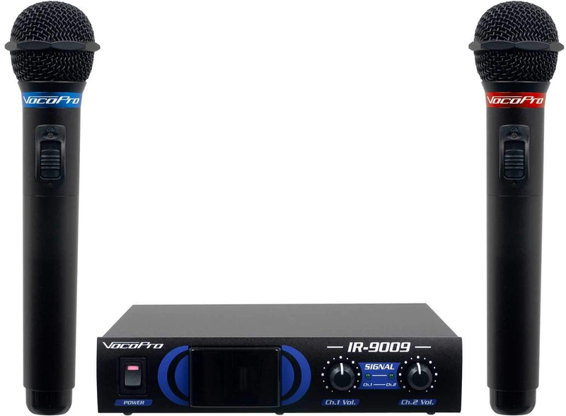 VocoPro IR-90092 Infrared Dual Wireless Mic System - PSSL ProSound and Stage Lighting