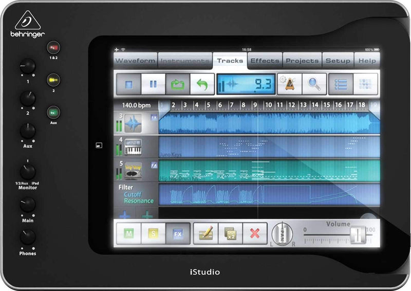 Behringer iS202 DAW Controller for iPad 2 & 3 - PSSL ProSound and Stage Lighting
