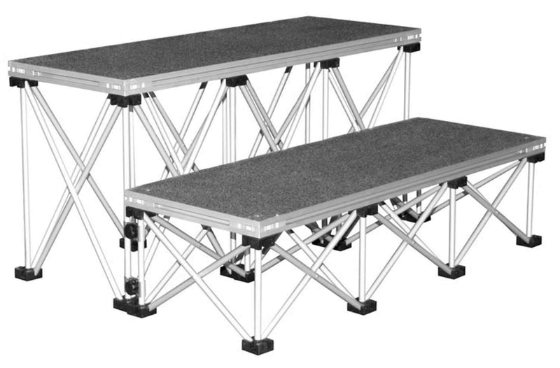 Intellistage IS3STEP24C Carpeted Stage Step Pack - PSSL ProSound and Stage Lighting
