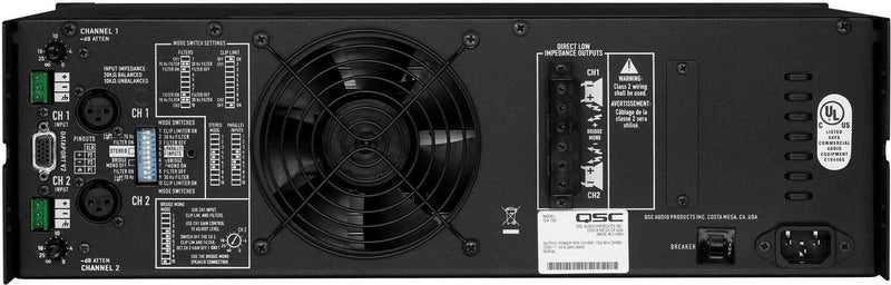 QSC ISA750 450W 8 Ohms Power Amplifier - PSSL ProSound and Stage Lighting