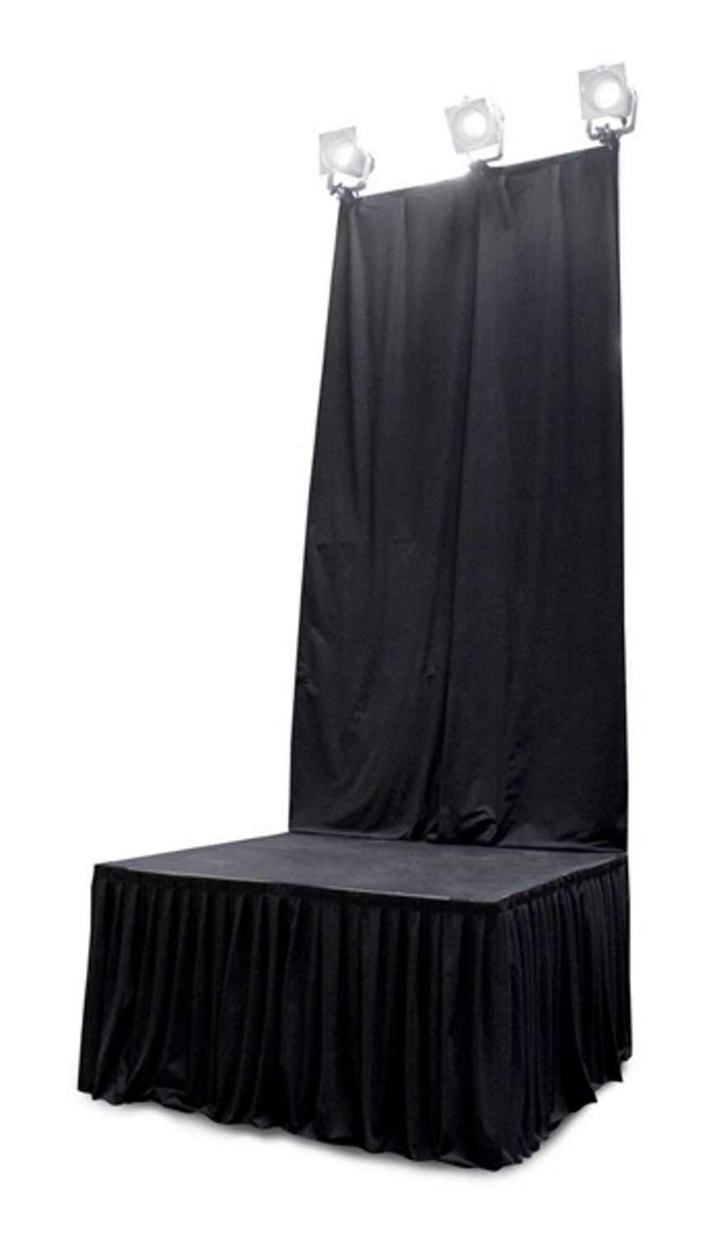 Staging 101 ISBDC4 4 Ft x 8 Ft Back Drop Stage Curtain - PSSL ProSound and Stage Lighting