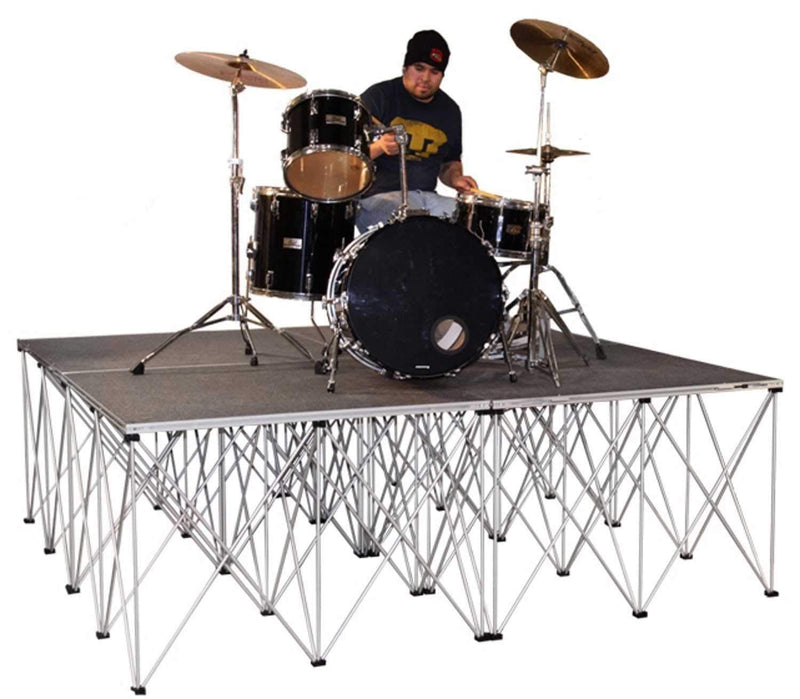 IntelliStage 8 x 8 Drum Riser 32-In High Carpet - PSSL ProSound and Stage Lighting