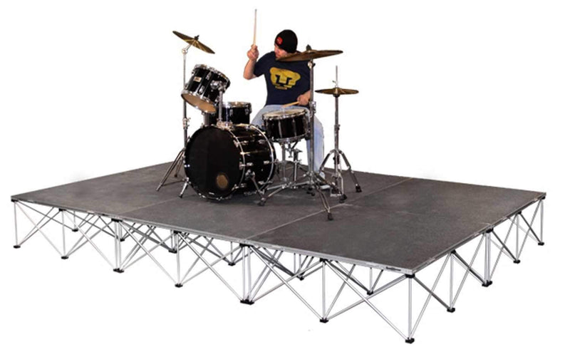 IntelliStage 12 x 8 Drum Riser 16-In High Carpet - PSSL ProSound and Stage Lighting