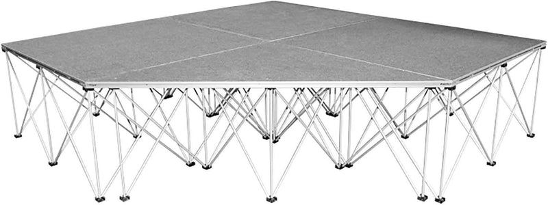 IntelliStage ISITPC3 3 Ft Triangle Stage Platform Carpet Finsh - PSSL ProSound and Stage Lighting