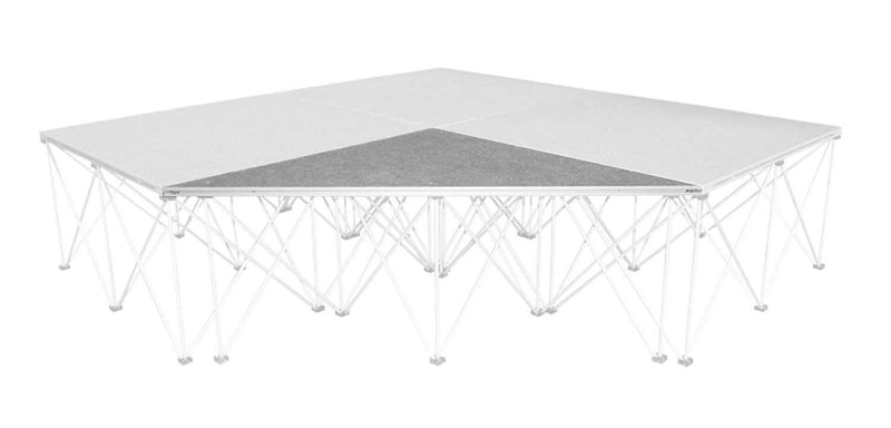 IntelliStage ISITPC4 Carpeted Triangle Stage Platform - PSSL ProSound and Stage Lighting
