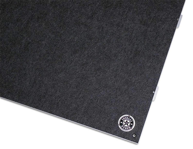 IntelliStage ISP4X4CD 4 Ft x 4 Ft Carpeted Square Stage Platform 2 Pack - PSSL ProSound and Stage Lighting