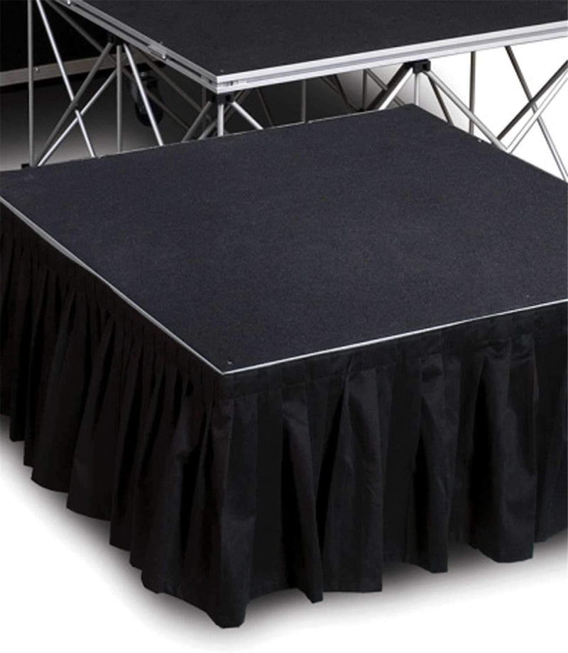 IntelliStage ISSK8X24 8 Ft x 24-Inch Black Stage Skirt - PSSL ProSound and Stage Lighting