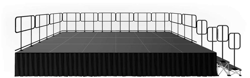 Intellistage ISTAGE1224GR24 12x24ft Stage System - PSSL ProSound and Stage Lighting