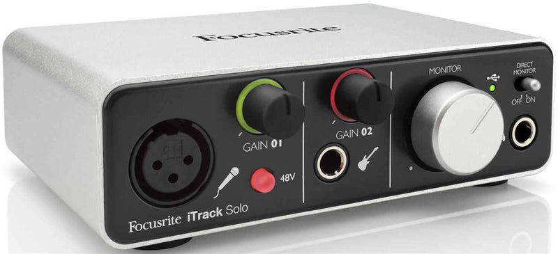 Focusrite ITRACK-SOLO USB/iPad Audio Interface - PSSL ProSound and Stage Lighting