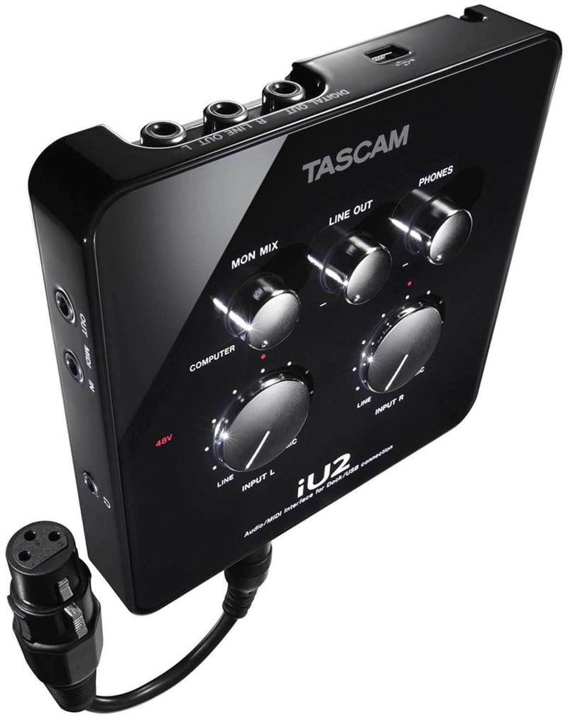 Tascam IU2 Audio/Midi Interface for iOS, Mac,& Win - PSSL ProSound and Stage Lighting