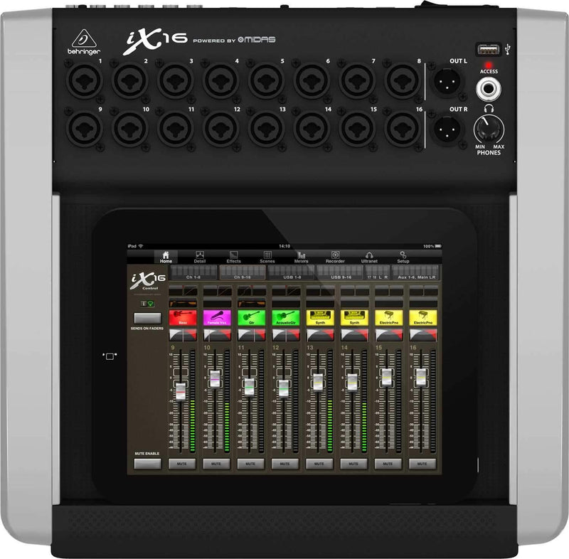 Behringer IX16 16ch Digital Mixer for iPad - PSSL ProSound and Stage Lighting