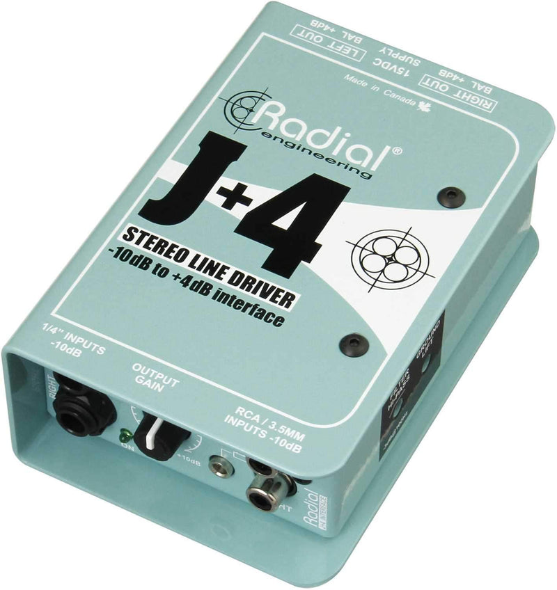 Radial J-4 Active Stereo Line Driver - PSSL ProSound and Stage Lighting