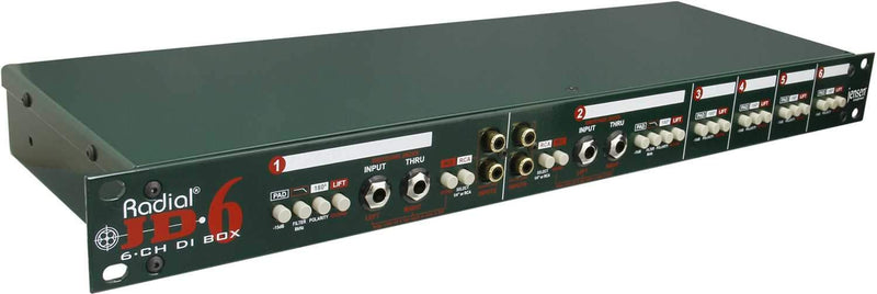 Radial JD6 6Ch Passive Rackmount DI for Keyboards - PSSL ProSound and Stage Lighting