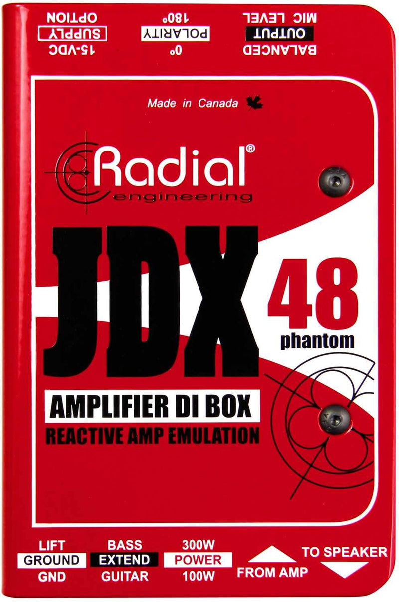 Radial JDX-48 Guitar Amp DI with Speaker Emulation - PSSL ProSound and Stage Lighting