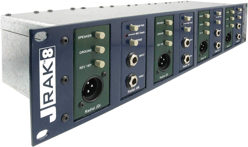 Radial JRAK 8 Rack Adaptor for 8 DI Boxes - PSSL ProSound and Stage Lighting