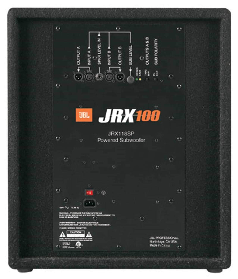 JBL JRX118SP Powered Portable 18Inch Subwoofer - PSSL ProSound and Stage Lighting