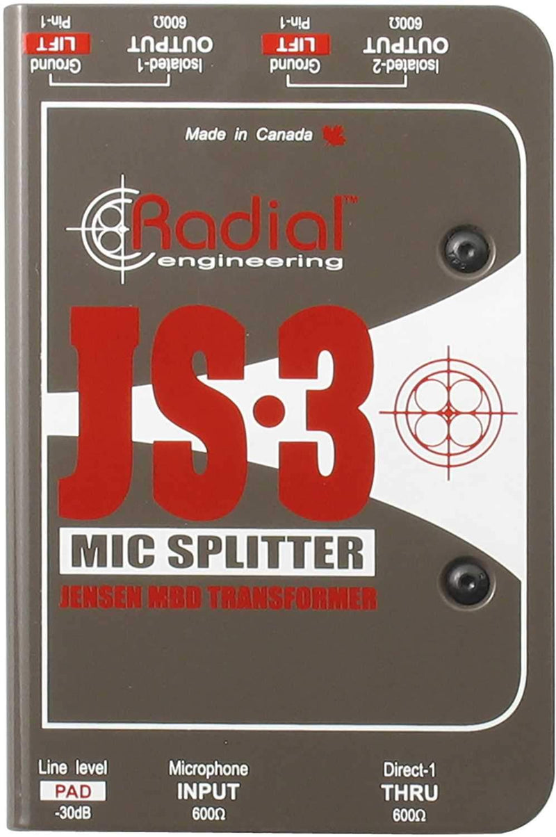 Radial JS3 Passive Mic Splitter - PSSL ProSound and Stage Lighting