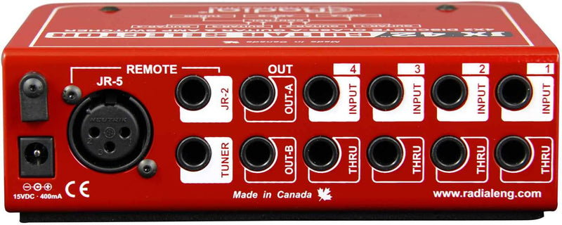 Radial JX42 Guitar Selector with 4 Inputs - PSSL ProSound and Stage Lighting