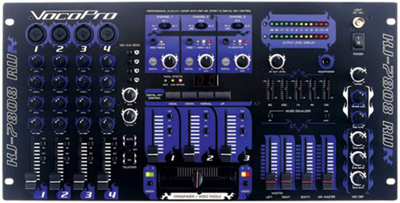Vocopro KJ7808-RV Pro DJ VJ Mixer with Mic Efx & DSP - PSSL ProSound and Stage Lighting