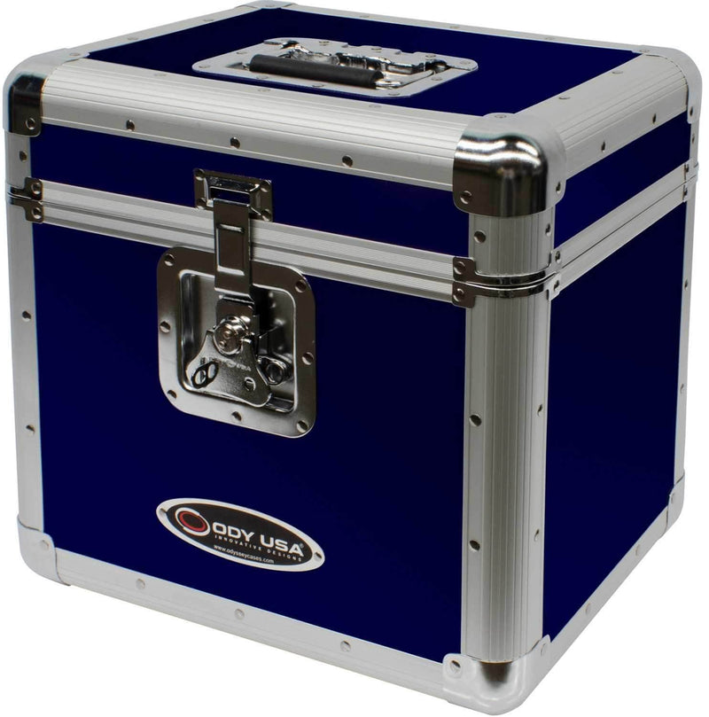 Odyssey KLP2BLU Krom Blue Stackable 12-Inch LP Case for 70 Records - PSSL ProSound and Stage Lighting