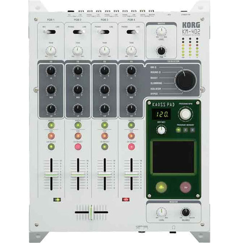 Korg KM-402 4-Channel Mixer with Integrated KAOSS Pad - PSSL ProSound and Stage Lighting