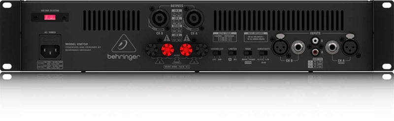 Behringer KM750 Stereo 750-Watt Power Amplifier - PSSL ProSound and Stage Lighting