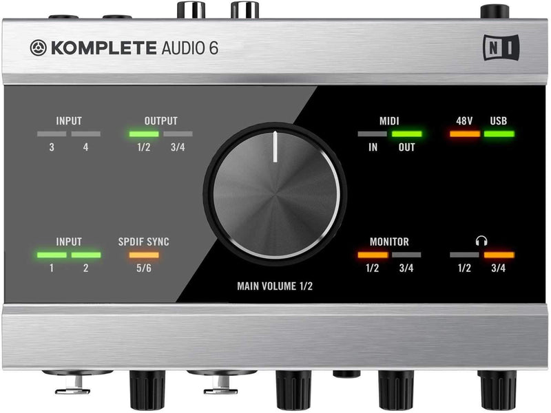 NI Komplete Audio 6 6-Ch Premium Audio Interface - PSSL ProSound and Stage Lighting