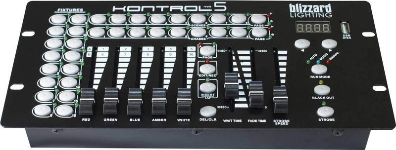 Blizzard Kontrol 5 10-Channel DMX Controller - PSSL ProSound and Stage Lighting