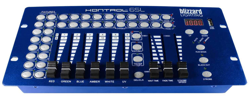 Blizzard Kontrol 6SL 12-Channel DMX Lighting Controller - PSSL ProSound and Stage Lighting
