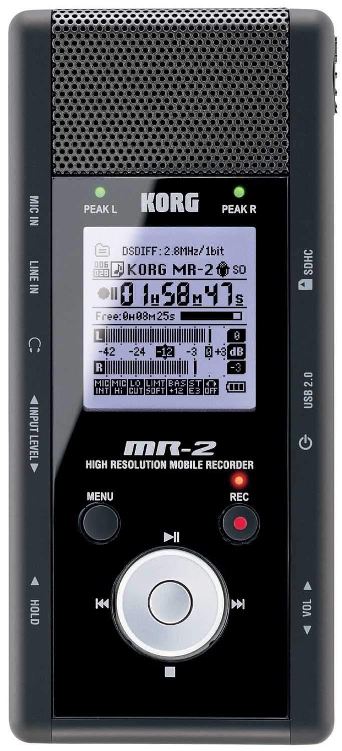 Korg MR2 Hi Res Stereo Mobile Recorder (SD Card) - PSSL ProSound and Stage Lighting