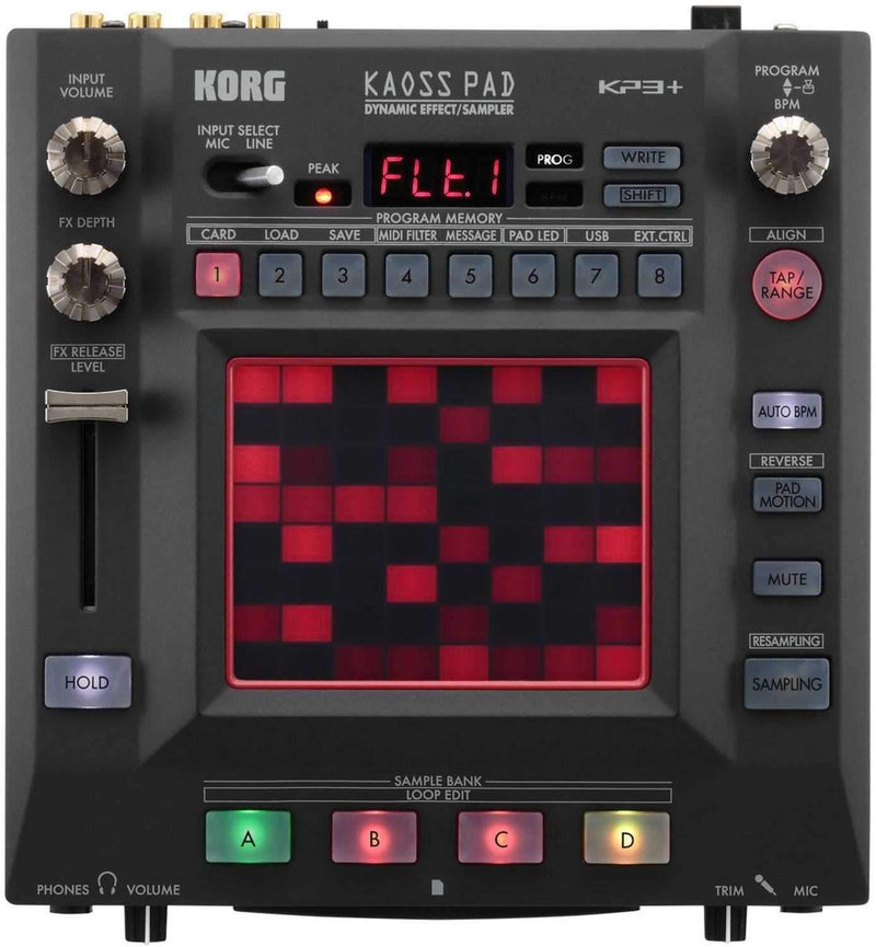 Korg KP3PLUS Kaos Pad Dynamic Effects Sampler - PSSL ProSound and Stage Lighting