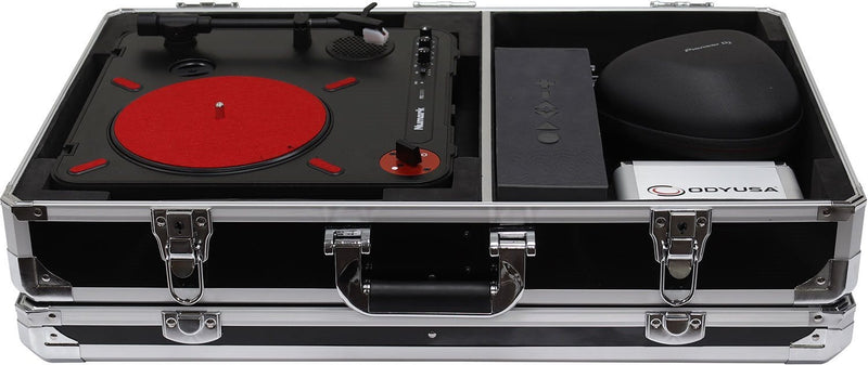 Odyssey KPT01SCBLK Krom Numark PT01 Turntable Case with Side Compartment - PSSL ProSound and Stage Lighting
