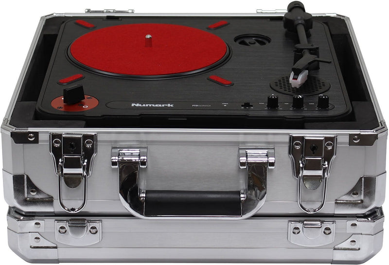 Odyssey KPT01SIL Krom Numark PT01 Scratch Turntable Case Silver - PSSL ProSound and Stage Lighting