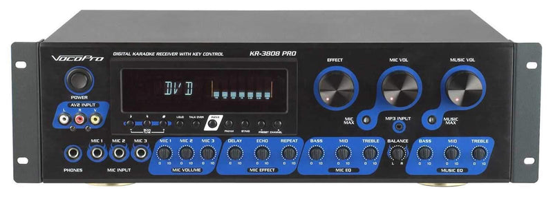 VocoPro KR-3808-PRO Digital Receiver with Key Control - PSSL ProSound and Stage Lighting