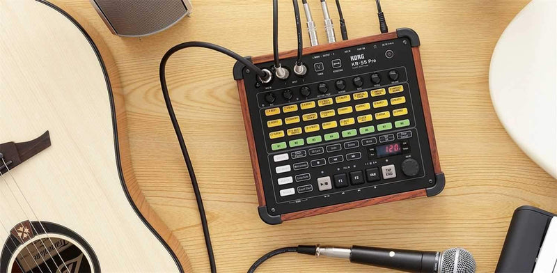 Korg KR-55 Pro Drum Machine with Built-In Mixer & Recorder - PSSL ProSound and Stage Lighting