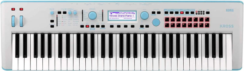 Korg Kross 2-61 Limited Neon Blue Synthesizer - PSSL ProSound and Stage Lighting