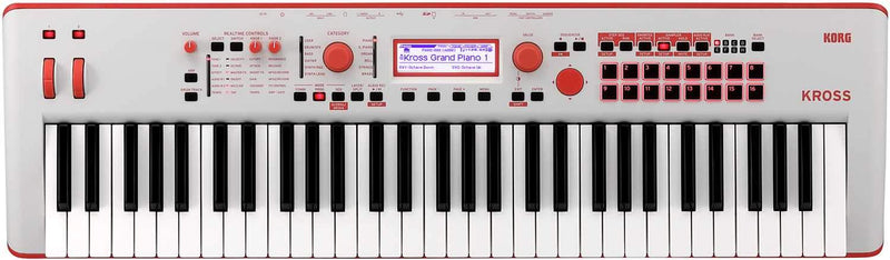 Korg Kross 2-61 Limited Neon Red Synthesizer - PSSL ProSound and Stage Lighting