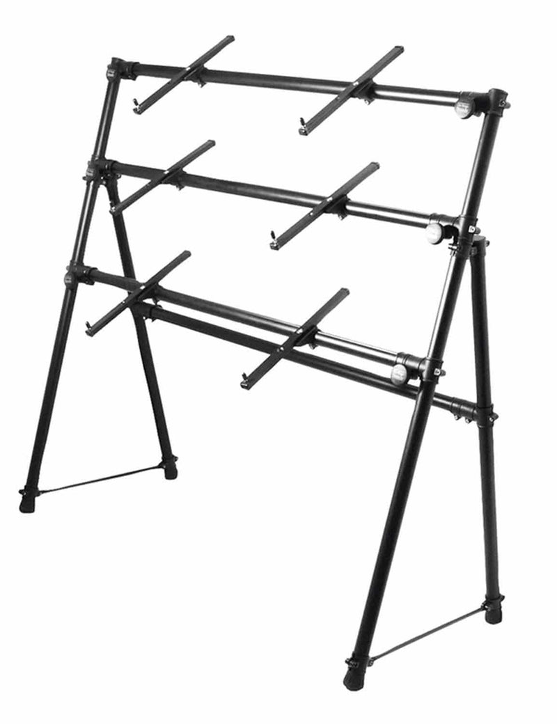 On Stage KS7903 Dlx 3 Tier A Frame Keyboard Stand - PSSL ProSound and Stage Lighting