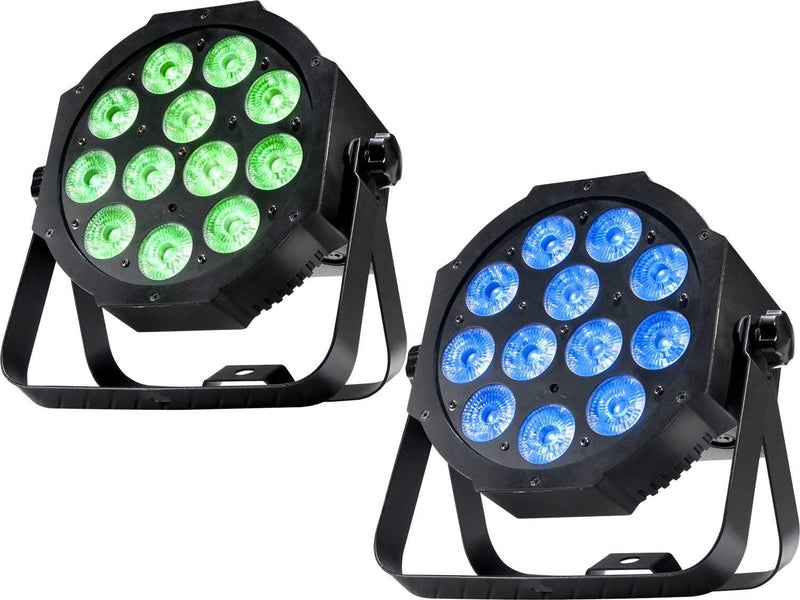 ADJ American DJ Mega 64 Profile Plus RGB Plus UV LED Wash Light 2-Pack - PSSL ProSound and Stage Lighting